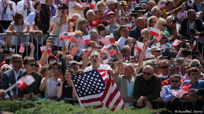 Polen Rede US-Präsident Donald Trump in Warschau