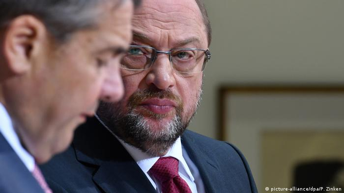 Sigmar Gabriel and Martin Schulz in July 2017