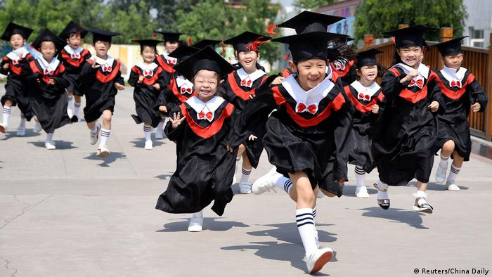 China Kinder aus einem Kindergarten in Handan (Reuters/China Daily)