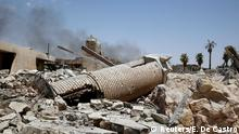 The remains of al-Hadba minaret at the Grand al-Nuri Mosque are pictured in the Old City in Mosul, Iraq July 2, 2017. REUTERS/Erik De Castro TPX IMAGES OF THE DAY