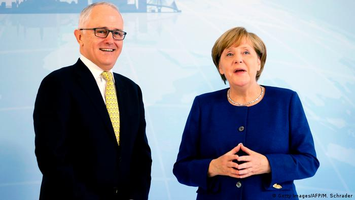 G20 Gipfel in Hamburg | Malcolm Turnbull & Angela Merkel (Getty Images/AFP/M. Schrader)