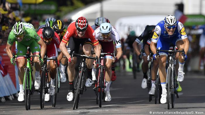 Tour de France 6. Etappe Sprint Demare Greipel Kittel (picture-alliance/Belga/dpa/D. Waem)