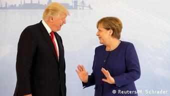 G20 Gipfel in Hamburg   Donald Trump & Angela Merkel
