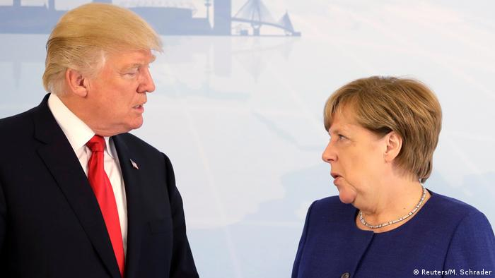 G20 Gipfel in Hamburg | Donald Trump & Angela Merkel (Reuters/M. Schrader)