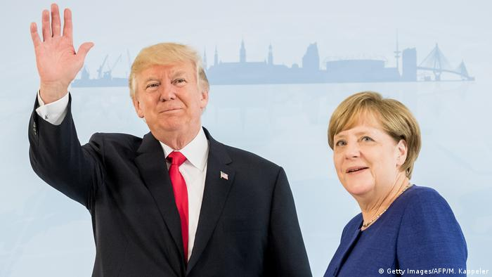 G20 Gipfel in Hamburg | Donald Trump & Angela Merkel (Getty Images/AFP/M. Kappeler)