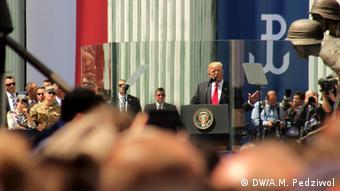 Трамп во время визита в Варшаву в июле 2017 года