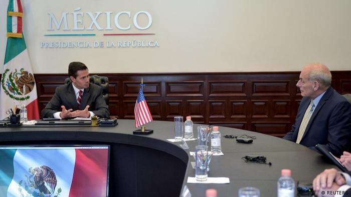 Mexiko | Mexikos Präsident Enrique Pena Nieto trifft U.S. Heimatschutzminister John Kelly (REUTERS)