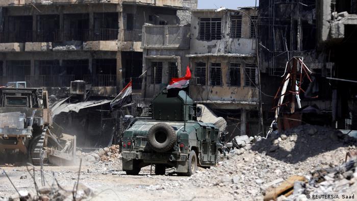 Іракська армія під час визвольної операції в старому місті Мосула