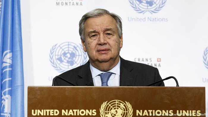 Schweiz | UN-Zypern-Konferenz endet ohne Ergebnis verkündet UN-Generalsekretär Guterres (picture alliance/KEYSTONE/S. Di Nolfi)