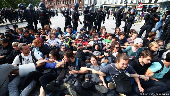 Сидячая блокада в Гамбурге