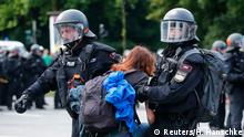 Deutschland G20 Proteste in Hamburg