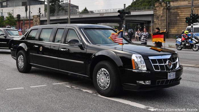 Лимузин президента США Трампа в Гамбурге