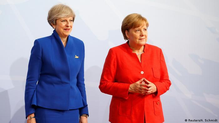 Deutschland G20 Begrüßung der Teilnehmer durch Merkel (Reuters/A. Schmidt)