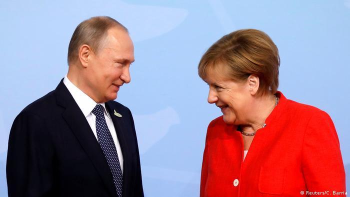 Deutschland G20 Begrüßung der Teilnehmer durch Merkel (Reuters/C. Barria)