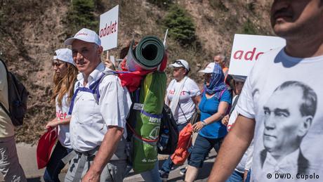 Türkei Protestmarsch (DW/D. Cupolo)
