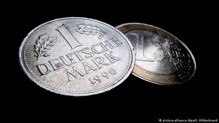 Euro und D-Mark Münzen