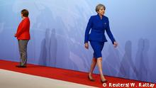 Angela Merkel and Theresa May at the G20 summit in Hamburg