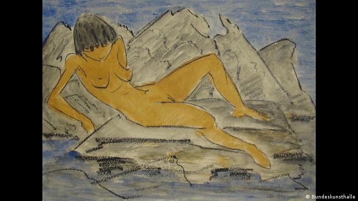 Otto Mueller, Liegender weiblicher Akt am Wasser (Foto: Bundeskunsthalle)