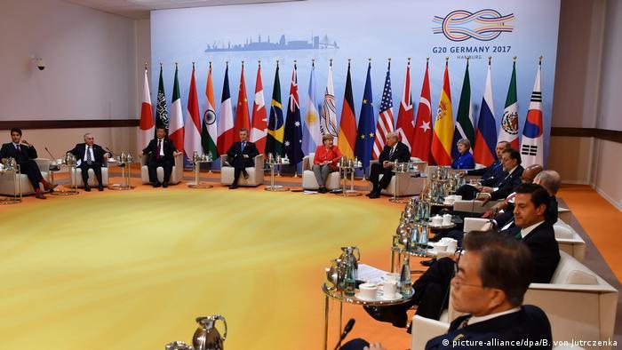 Deutschland G20 Gipfel Retreat Sitzung