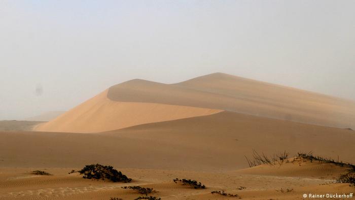Fog over the dunes in the Namib Desert