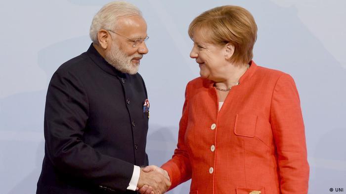 Narendra Modi and Angela Merkel