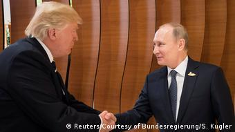 G20 Gipfel in Hamburg | Trump & Putin (Reuters/Courtesy of Bundesregierung/S. Kugler)