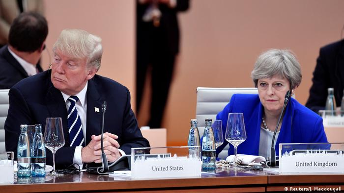 Deutschland G-20 Trump und May in Hamburg (Reuters/J. Macdougall)