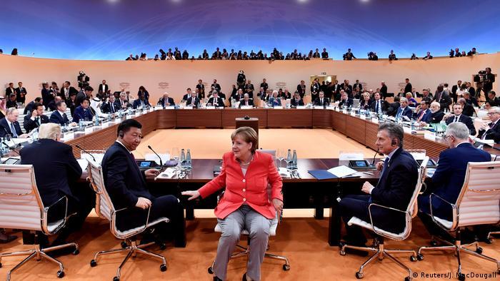 G20 Gipfel in Hamburg | Trump & Jinping & Merkel & Macri