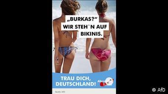 AfD Plakat - Bikinis statt Burka (AfD)