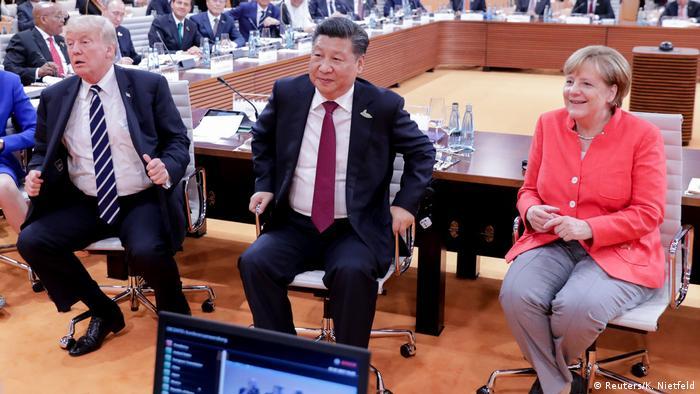 G20 Gipfel in Hamburg | Trump & Jinping & Merkel (Reuters/K. Nietfeld)