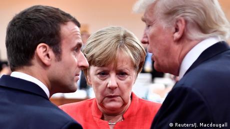 Deutschland Hamburg - G20 mit Merkel Macron und Trump (Reuters/J. Macdougall)