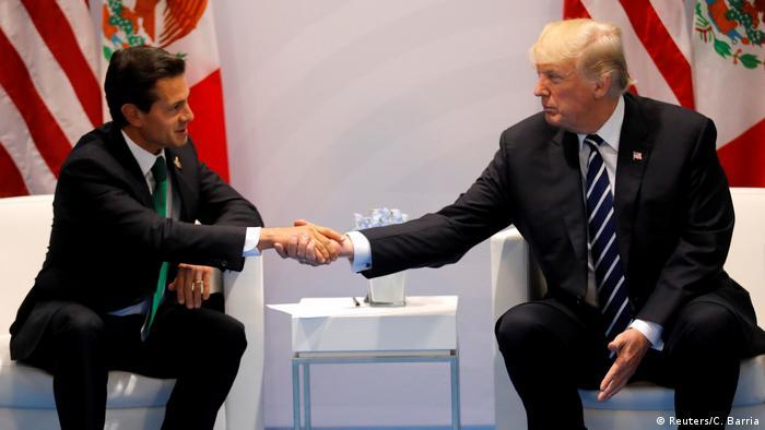 Hamburg G20 Treffen Trum Pena Nieto (Reuters/C. Barria)