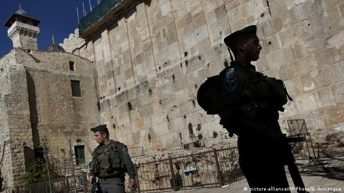 Hebron Altstadt Hebron Patriarchengräber / Ibrahim-Moschee (picture-alliance/AP Photo/B. Armangue)