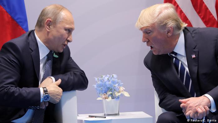 Deutschland Hamburg - Donald Trump und Vladimir Putin (Reuters/C. Barria)