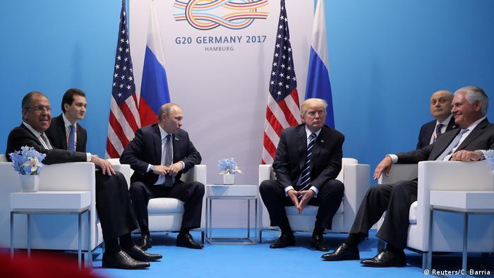 Deutschland Hamburg - Donald Trump und Vladimir Putin