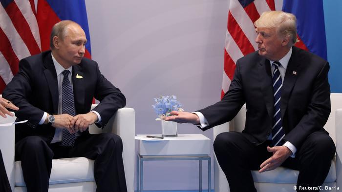 Владимир Путин и Дональд Трамп на встрече в Гамбурге