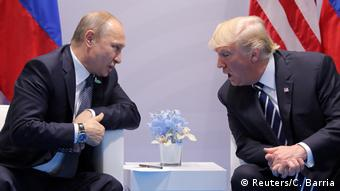 Deutschland Hamburg - G20 - Donald Trump und Vladimir Putin (Reuters/C. Barria)