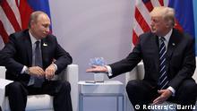 Deutschland Hamburg - G20 Donald Trump und Vladimir Putin