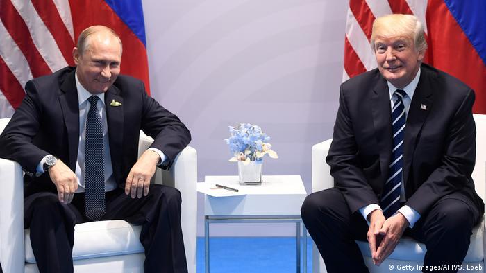 Deutschland Hamburg - G20 - Donald Trump und Vladimir Putin