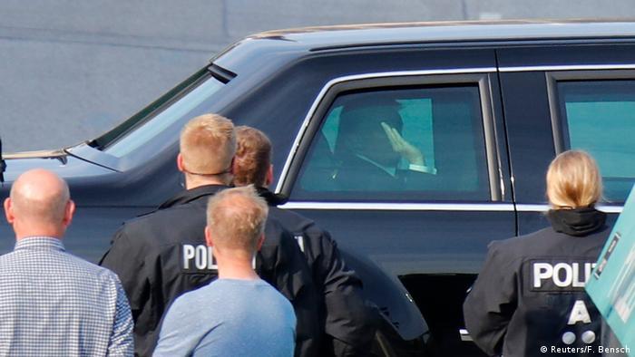 DEutschland Hamburg - G20 - Donald Trump kommt bei der Elbphilharmonie an (Reuters/F. Bensch)