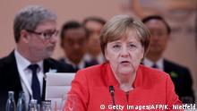 Deutschland Hamburg - G20 - Angela Merkel hält Rede (Getty Images/AFP/K. Nietfeld)