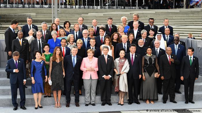 Совместное фото лидеров стран большой двадцатки