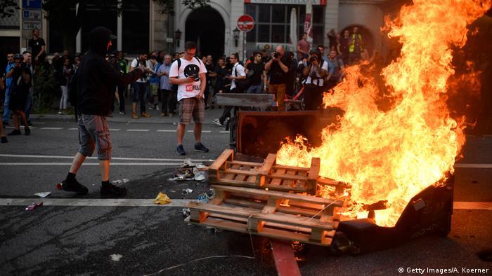 Deutschland Hamburg - G20 Proteste (Getty Images/A. Koerner)