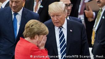 Hamburg G20 Merkel und Trump (picture-alliance/AP Photo/NTB Scanpix/T. Meek)