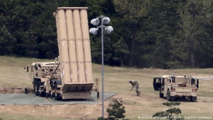 Südkorea THAAD missiles des US-Militärs