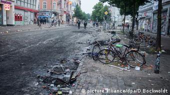 Улицы Гамбурга после беспорядков