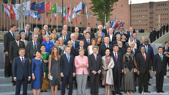Глави держав та урядів країн Великої двадцятки під час саміту G20 у Гамбурзі
