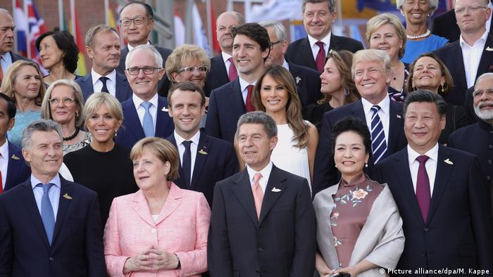 Deutschland G20 Gipfeltreffen Ehegatten (Picture alliance/dpa/M. Kappe)