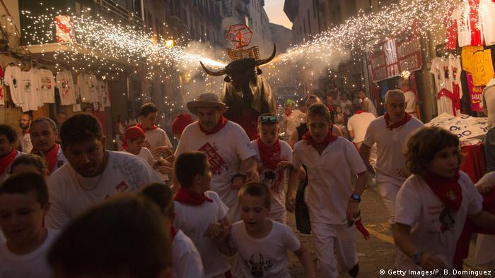 Spanien Festival San Fermin Stierrennen (Getty Images/P. B. Dominguez)
