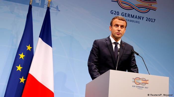 G20 Gipfel in Hamburg | Emmanuel Macron (Reuters/P. Wojazer)